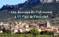 JOURNÉES EUROPÉENNES DU PATRIMOINE A SAINT-PAUL DE FENOUILLET