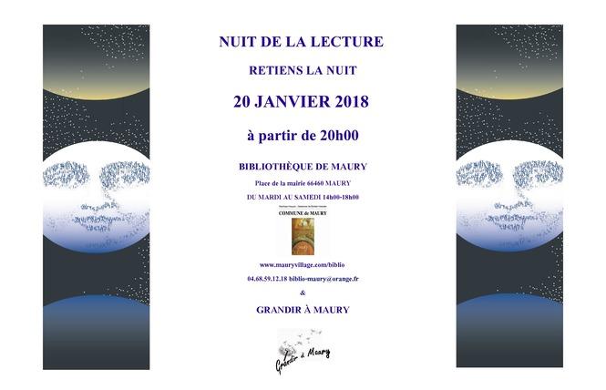 NUIT DE LA LECTURE A MAURY 1 - Maury
