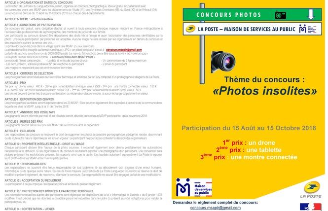 CONCOURS PHOTOS :