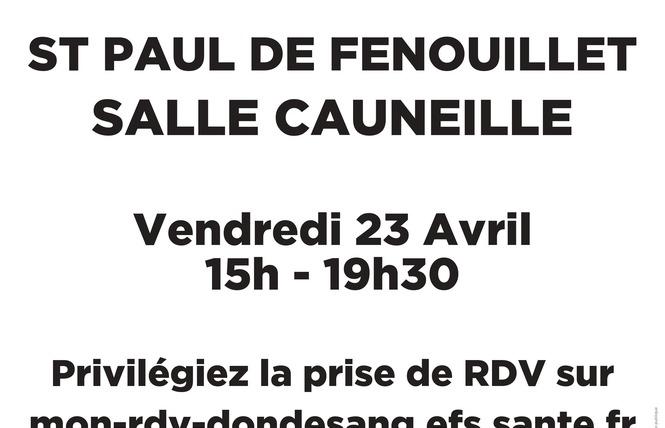DON DU SANG 3 - Saint-Paul-de-Fenouillet