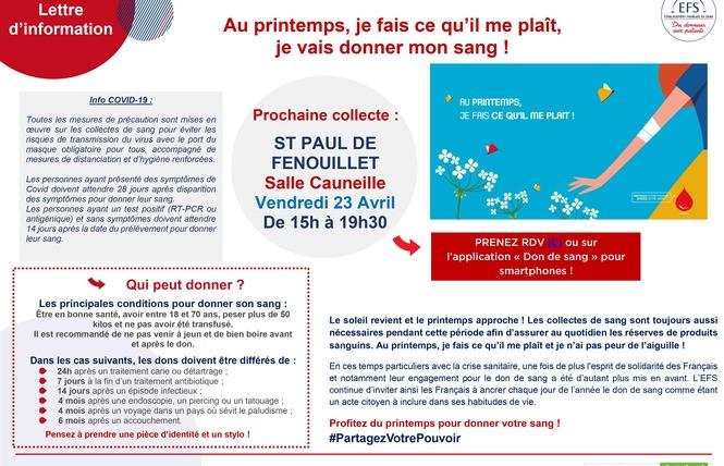 DON DU SANG 1 - Saint-Paul-de-Fenouillet